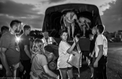 Vidor, Texas, August 31, 2017- evacuations continue in Vidor, Texas as water continued to rise, despite Hurricane Harvey's rain stopping. After being evacuated from thier homes, and other places they are stuck, people are dropped off in the parking lot of a stripmall in VIdor before being taken by school bus to a shelter in Lake Charles, Louisiana.
